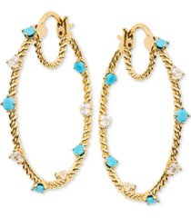 eliot danori stone embellished hoop earrings, created for macy's