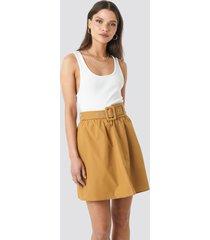 trendyol belt detailed skirt - brown