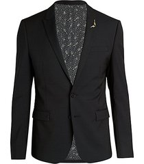 guitar-pin ribbed wool jacket