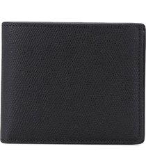 maison margiela stitched bi-fold wallet - black