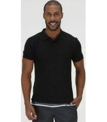camisa polo oxer básica terry - masculina - preto