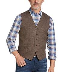 joseph abboud brown modern fit vest