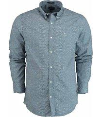 gant overhemd met structuur blauw 3023930/442