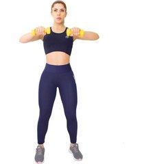 leggings deportivo azul oscuro para mujer
