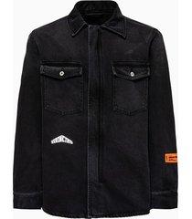 heron preston zip up shirt hmyd003s20797006