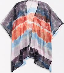maurices womens tie dye open front ruana