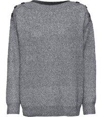 maglione oversize con bottoni (grigio) - bodyflirt
