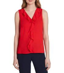 tahari asl ruffle-front sleeveless top