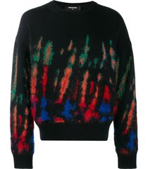 dsquared2 tie-dye jumper - black