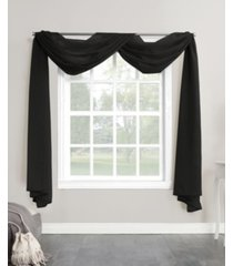 """no. 918 sheer voile rod pocket curtain panel, 216"""" l x 59"""" w"""