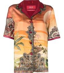 f.r.s for restless sleepers morfeo pajama shirt - orange