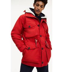 tommy hilfiger men's 3-in-1 field parka primary red - xs