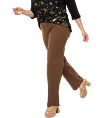 pantalón marrón veramo zara plus size