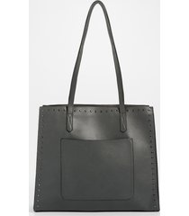 maurices womens gray studded tote bag