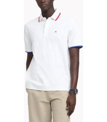 tommy hilfiger men's classic-fit th luxe hopkins polo