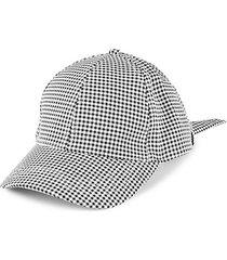 gingham tie-bow baseball cap