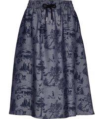 moonlight skirt knälång kjol blå makia