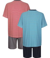 pyjamas i 2-pack g gregory röd::blå