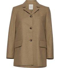 anna jacket ulljacka jacka beige wood wood