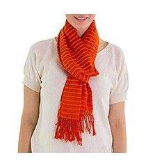 cotton scarf, 'citrus fantasy' (guatemala)