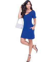 vestido corto para mujer azul rey mp