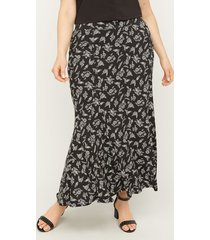 anywear midnight bloom maxi swing skirt