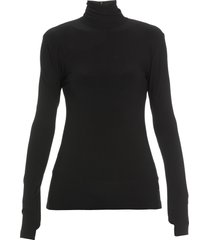 norma kamali high neckline sweater