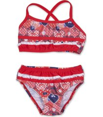 bikini roja caracolores corazones