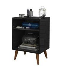 mesa de cabeceira retrô artellis - preto - rpm móveis