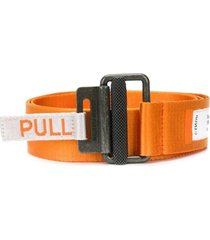 heron preston kk tape belt orange medium grey