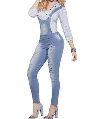 overall adulto marketing personal para mujer azul