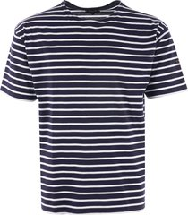 armor lux breton striped mariniere t-shirt - navy & white 01527