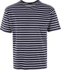 armor lux breton striped mariniere t-shirt - navy & white 01527