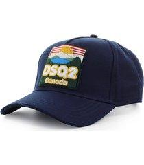 dsquared2 dsq2 canada navy blue baseball cap