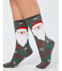 charter club bearded santa socks, created for macy's