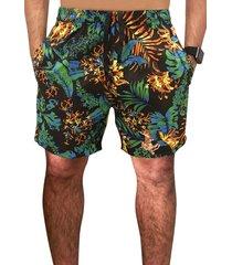 shorts ks praia microfibra preto