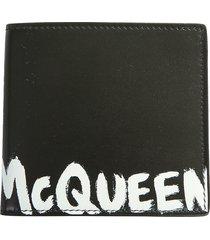 alexander mcqueen designer men's bags, bifold wallet with logo