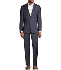 modern-fit windowpane wool blend suit