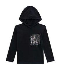camiseta ml detalhe camuflado preto johnny fox 8 preto