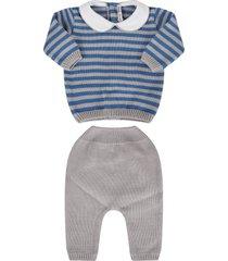 little bear grey and azure babyboy suit