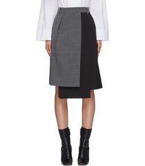 'auguste' houndstooth flap midi skirt