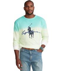 polo ralph lauren men's big & tall big pony dip-dyed spa terry sweatshirt