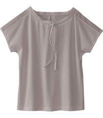 shirt met tule langs de hals en aantrekkoordje, silver star 40