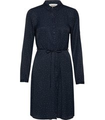 anastacia print dress jurk knielengte blauw modström