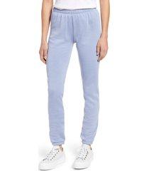 women's wildfox knox cotton blend pants, size medium - blue