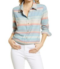 women's faherty sweater shirt, size x-large - blue
