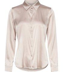 3176 - latia långärmad skjorta creme sand
