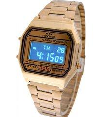 reloj dorado montreal digital