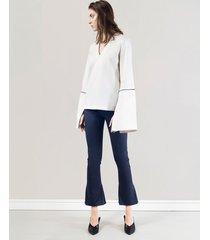 bluzka z długimi mankietami