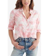 women's classic tie dye woven shirt